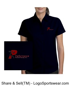 Ladies Easy Care Wrinkle Resistant  Short Sleeve Shirt Design Zoom