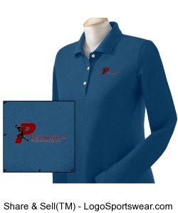 Devon and Jones Ladies Pima Pique Long-Sleeve Polo Design Zoom